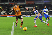 Hull City defender Andrew Robertson during the Sky Bet Championship match between Hull City and Reading at the KC Stadium, Kingston upon Hull, England on 16 December 2015. Photo by Ian Lyall.