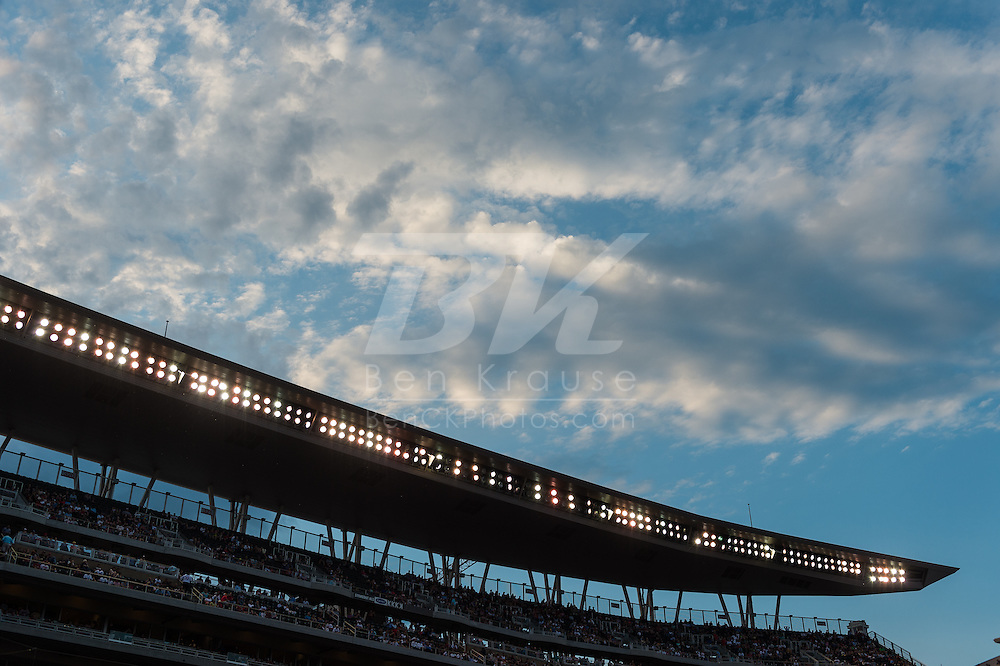 A view of the Target Field canopy during a game between the Minnesota Twins and Philadelphia Phillies on June 11, 2013 in Minneapolis, Minnesota.  The Twins defeated the Phillies 3 to 2.  Photo: Ben Krause