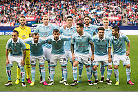 Celta de Vigo's players during La Liga Match at Vicente Calderon Stadium in Madrid. May 14, 2016. (ALTERPHOTOS/BorjaB.Hojas)