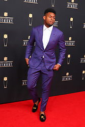 February 2, 2019 - Atlanta, GA, U.S. - ATLANTA, GA - FEBRUARY 02:  JuJu Smith-Schuster poses for photos on the red carpet at the NFL Honors on February 2, 2019 at the Fox Theatre in Atlanta, GA. (Photo by Rich Graessle/Icon Sportswire) (Credit Image: © Rich Graessle/Icon SMI via ZUMA Press)