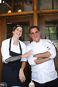 SUMMIT, NJ - August 4, 2015: Pastry chef Katie Pultz and Executive chef Bill Hendra at Huntley Tavern.<br /> <br /> CREDIT: Clay Williams for Edible Jersey.<br /> <br /> © Clay Williams / claywilliamsphoto.com