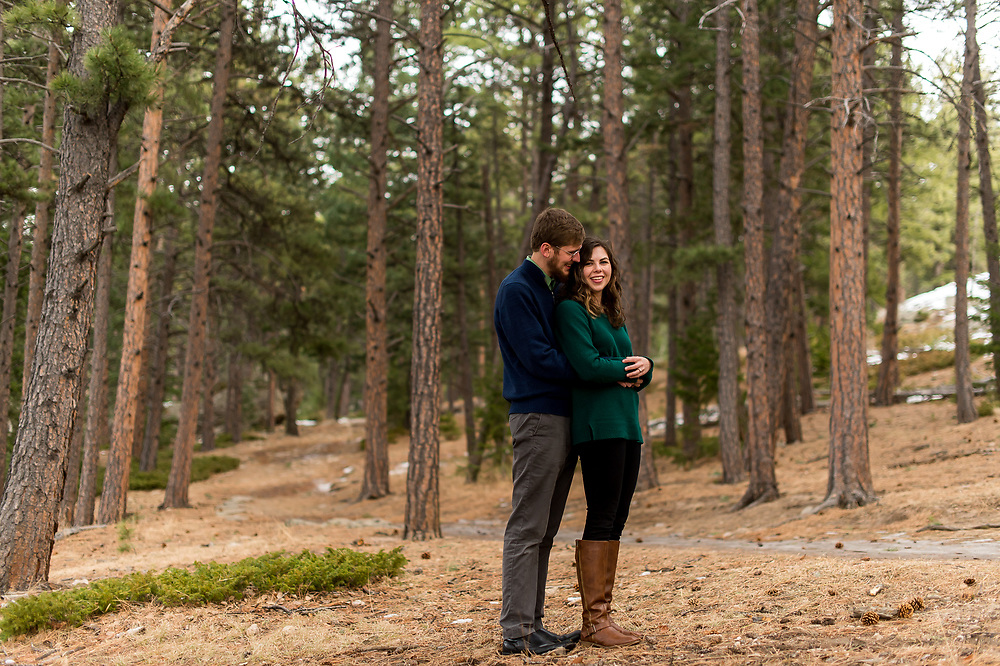 EVERGREEN, CO - DECEMBER 23: Engagement of Mary Margaret Brady and Waylon Duncan at Three Sisters Park on December 23, 2019, in Evergreen, Colorado. (Photo by Anya Semenoff/A&D Creative)