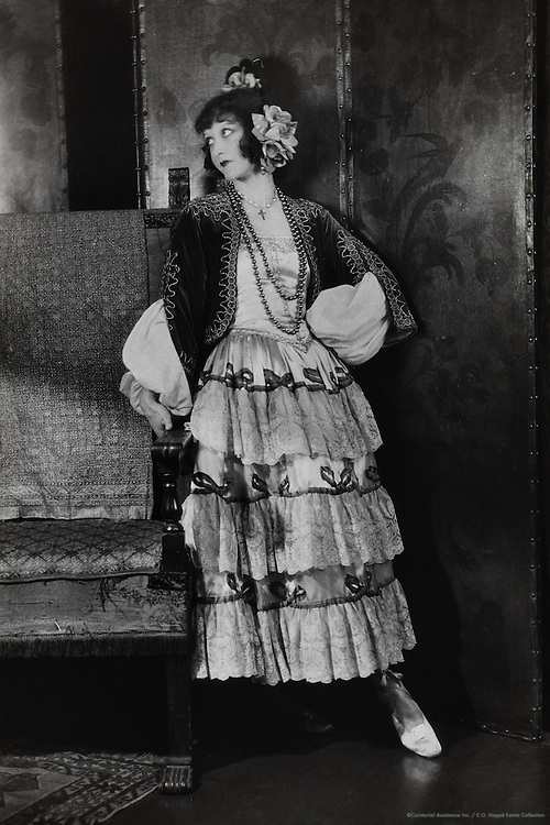 Elizabeth Nelvi, opera singer & composer (Mrs. Craig Edmonston), dressed as a Flamenco dancer, England, UK, 1916