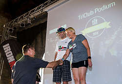 Trophy ceremony during I feel Slovenia Ironman 70.3 Slovenian Istra 2018, on September 23, 2018 in Koper / Capodistria, Slovenia. Photo by Vid Ponikvar / Sportida
