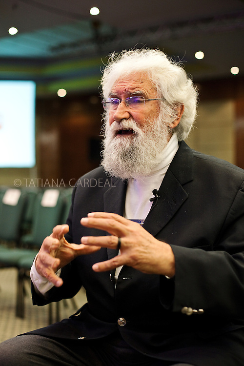 Leonardo Boff, during an interview at the Ethos International Conference, Sao Paulo, Brazil, 2010.