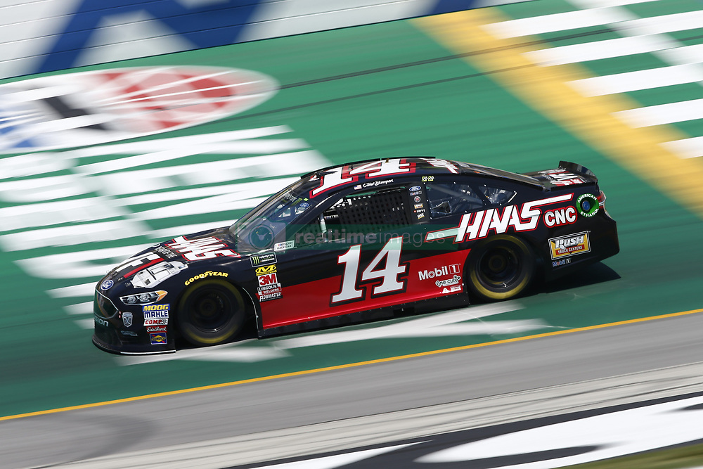 July 13, 2018 - Sparta, Kentucky, United States of America - Clint Bowyer (14) brings his race car down the front stretch during practice for the Quaker State 400 at Kentucky Speedway in Sparta, Kentucky. (Credit Image: © Chris Owens Asp Inc/ASP via ZUMA Wire)