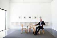 Barry Whistler photographed in his new gallery in Dallas, Texas.