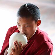 Chöd practice for Dakini day - Nagi gompa, Kathmandu, Nepal, 2014