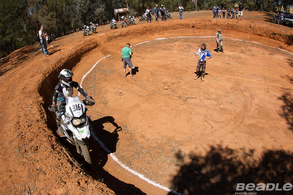 Rosa Freitag from Brazil participating in the inaugural GS Trophy Female qualifying event at the 2015 BMW Motorrad GS Trophy Female Team Qualifying Event held at Countrytrax Amersfoort, South Africa. Image by Greg Beadle