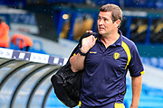 Burton Albion manager Nigel Clough arrives at Elland Road before the EFL Sky Bet Championship match between Leeds United and Burton Albion at Elland Road, Leeds, England on 9 September 2017. Photo by Richard Holmes.