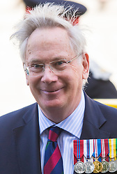 London, August 15th 2015. The Duke of Gloucester leaves St Martin-in-the-Fields church following a service commemorating the 70th anniversary of the Allies victory against Japan, which ended the Second World War.