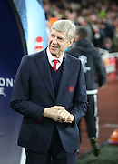 Arsene Wenger during the Champions League match between Arsenal and Dinamo Zagreb at the Emirates Stadium, London, England on 24 November 2015. Photo by Matthew Redman.