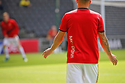 MKDons players warming up before the EFL Sky Bet League 2 match between Milton Keynes Dons and Exeter City at stadium:mk, Milton Keynes, England on 25 August 2018.