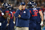 TUCSON, AZ - NOVEMBER 14: Head coach Rich Rodriguez of the Arizona Wildcats reacts on the field prior to the game against Utah Utes at Arizona Stadium on November 14, 2015 in Tucson, Arizona.  (Photo by Jennifer Stewart/Getty Images)