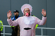 A fan dressed as a baby during the EFL Sky Bet Championship match between Bristol City and Burton Albion at Ashton Gate, Bristol, England on 4 March 2017. Photo by Richard Holmes.