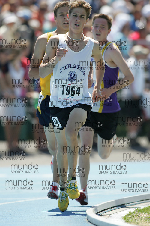 Jacob Smith in the senior boys 3000m at the 2007 OFSAA Ontario High School Track and Field Championships in Ottawa.