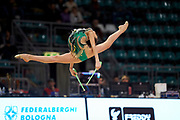 Gaia Pozzi from the San Giorgio Desio team during the Italian Rhythmic Gymnastics Championship in Bologna, 9 February 2019.