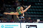 Gaia Pozzi from the San Giorgio Desio team during the Italian Rhythmic Gymnastics Championship in Bologna, 9 February 2019.