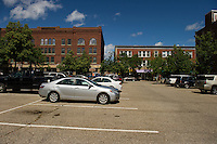 Parking in downtown Laconia.   (Karen Bobotas/for the Laconia Daily Sun)