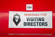 Salford City reserved sit for visiting Directors. EFL Sky Bet League 2 match between Salford City and Macclesfield Town at the Peninsula Stadium, Salford, United Kingdom on 23 November 2019.