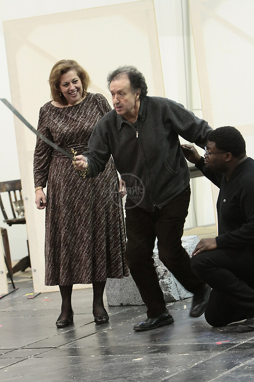 Seattle Opera staging rehearsal for Attila.