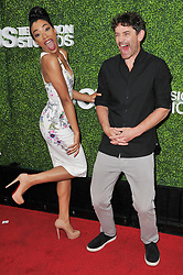 (L-R) Sonequa Martin-Green and James Frain together at the 2017 CBS Television Studios Summer Soiree TCA Party held at the CBS Studio Center – New York Street in Studio City, CA on Tuesday, August 1, 2017. (Photo By Sthanlee B. Mirador) *** Please Use Credit from Credit Field ***