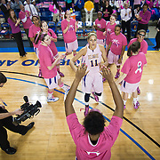 02/05/12 Newark DE: Delaware Junior Forward #11 Elena Delle Donne is introduced to the crowed prior to the start of a Colonial Athletic Association conference Basketball Game against the VCU Lady Rams, Feb. 5, 2012 at the Bob carpenter center in Newark Delaware.<br /> <br /> Special to The News Journal/SAQUAN STIMPSON