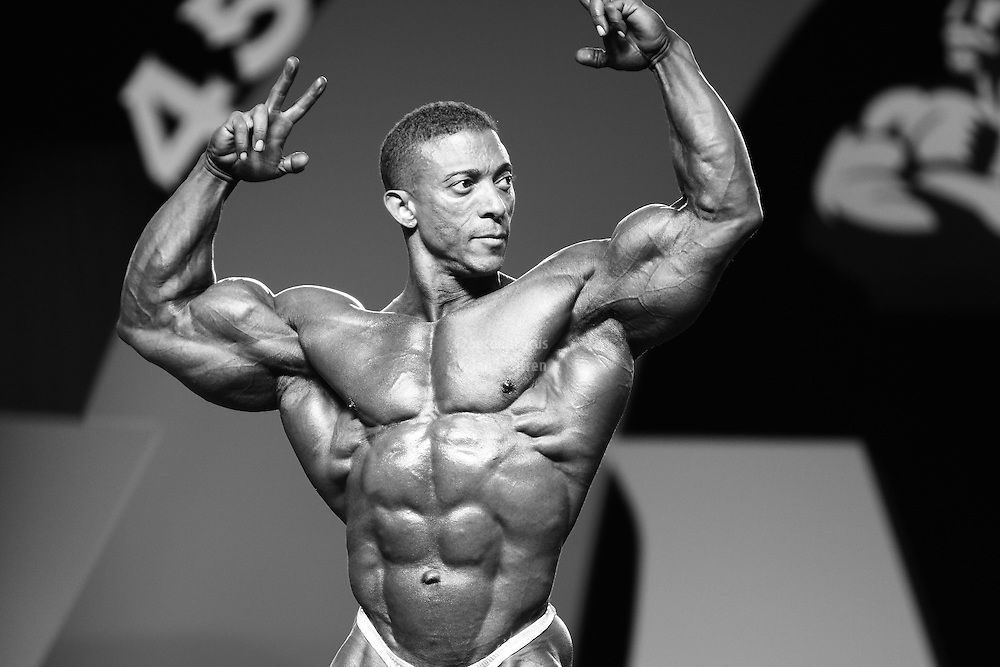 Troy Alves competing at the 2010 Mr. Olympia finals in Las Vegas.