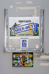 A Sold Out sign - Photo mandatory by-line: Rogan Thomson/JMP - 07966 386802 - 03/05/2014 - SPORT - FOOTBALL - Memorial Stadium, Bristol - Bristol Rovers v Mansfield Town - Sky Bet League Two. (Note: Mansfield are wearing a Rovers spare kit having forgotten their own).
