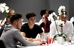 Callum O'Dowda, Josh Brownhill and Richard O'Donnell of Bristol City take part in the Community Trust Quiz - Mandatory by-line: Robbie Stephenson/JMP - 19/09/2016 - FOOTBALL - Ashton Gate - Bristol, England - Bristol City Community Trust Quiz
