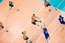 Fabian Plak of the Nedtherlands during volleyball match between national teams of Slovenia and Netherlands of 2018 CEV volleyball Godlen European League, on June 6, 2018 in Arena Bonifika, Koper, Slovenia. Photo by Urban Urbanc / Sportida