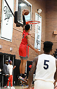 Tuff Crowd Power Forward Kenyon Martin Jr. (5) dunks the ball during a Drew League basketball game, Saturday, June 15, 2019, in Los Angeles.  (Dylan Stewart/Image of Sport)