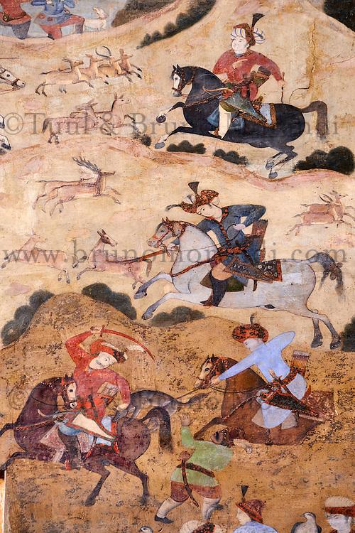 Iran, province d'Ispahan, Ispahan, Place de l'Imam, classée Patrimoine Mondial de l'UNESCO, porte Qeysarieh // Iran, Isfahan, Imam Square, world heritage of the UNESCO, Qeysarieh portal
