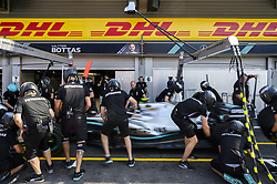 August 31, 2019, Spa, Belgium: Illustration picture shows the Mercedes mechanics in action during the free trial sessions ahead of the Spa-Francorchamps Formula One Grand Prix of Belgium race, in Spa-Francorchamps, Saturday 31 August 2019. (Credit Image: © Nicolas Lambert/Belga via ZUMA Press)