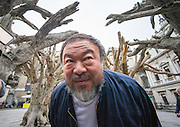 UNITED KINGDOM, London: 15 September 2015 Chinese Artist Ai Weiwei posses for a photo-call for his new exhibition at the Royal Academy of Arts in London, England. Andrew Cowie / Story