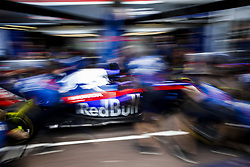 May 23, 2018 - Montecarlo, Monaco - Toro Rosso mechanics training pitstops during the Monaco Formula One Grand Prix  at Monaco on 23th of May, 2018 in Montecarlo, Monaco. (Credit Image: © Xavier Bonilla/NurPhoto via ZUMA Press)