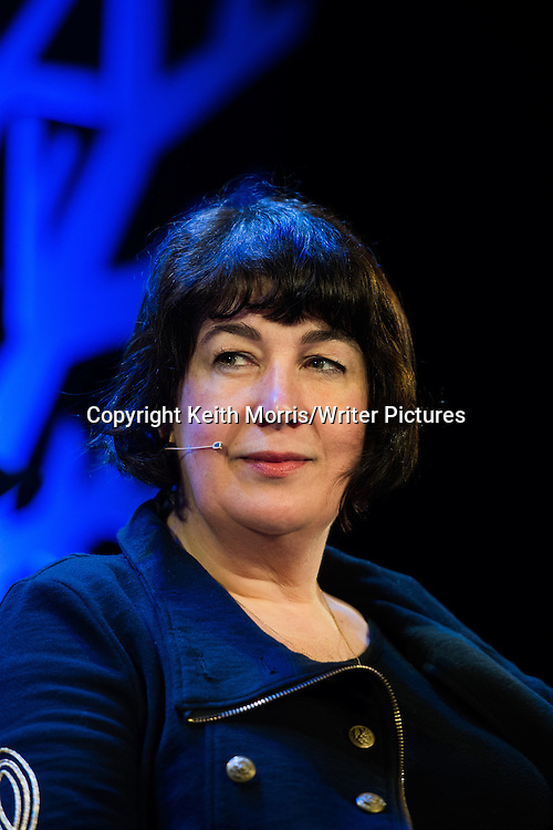 Joanne Harris, English writer novelist. Author of the book 'Chocolat'. At the Hay Festival of Literature and the Arts, Hay on Wye, Powys, Wales UK, June 01 2016<br /> <br /> Picture by Keith Morris/Writer Pictures
