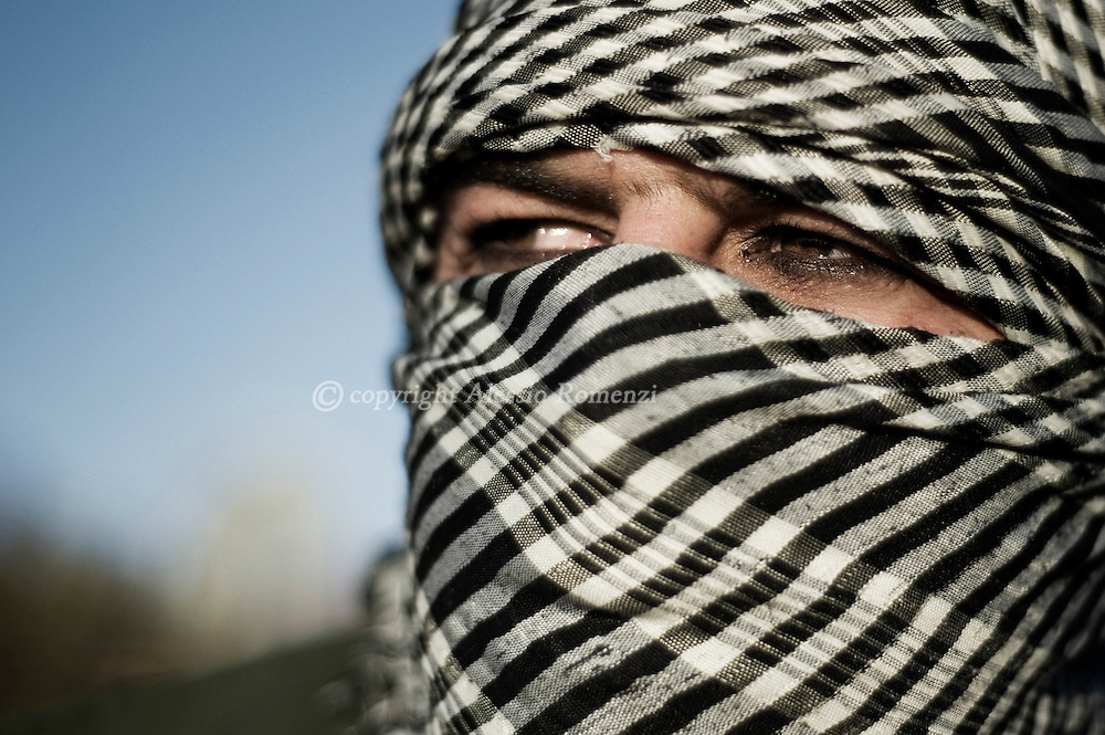 SYRIA - Al Qsair. A member of the Free Syrian Army in Al Qsair, on February 11, 2012. ALESSIO ROMENZI
