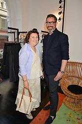 SUZY MENKES and DANIEL MARKS at the launch of the new Marina Rinaldi flagship store at 5 Albemarle Street, London on 3rd July 2014.