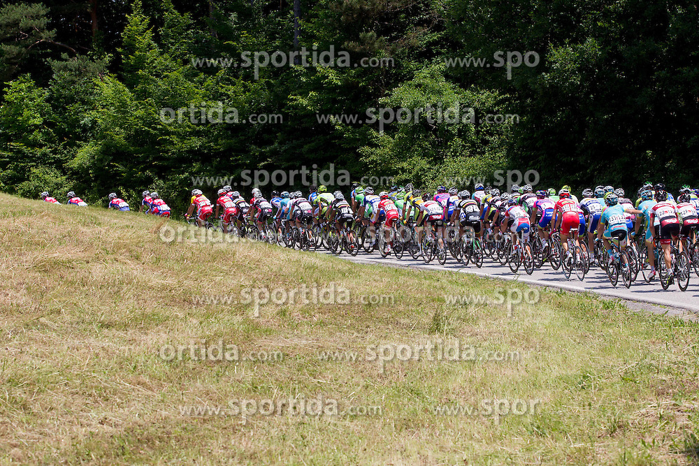 Peloton during Stage 4 from Brezice to Novo mesto (155,8 km) of cycling race 20th Tour de Slovenie 2013,  on June 16, 2013 in Slovenia. (Photo By Vid Ponikvar / Sportida)