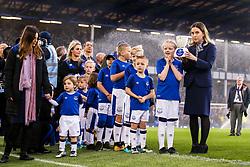 Everton mascots line up alongside the first robot mascot - Mandatory by-line: Robbie Stephenson/JMP - 23/04/2018 - FOOTBALL - Goodison Park - Liverpool, England - Everton v Newcastle United - Premier League