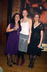 Left to right, NINA HAMPSON, Model LILY COLE and CHARLOTTE SEMLER at the Myla Debutantes Coming-Out show held at The Porchester Hall, Porchester Road, London on 31st January 2006.<br /><br />NON EXCLUSIVE - WORLD RIGHTS