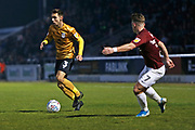 Harry Pickering in action during the EFL Sky Bet League 2 match between Northampton Town and Crewe Alexandra at the PTS Academy Stadium, Northampton, England on 16 November 2019.