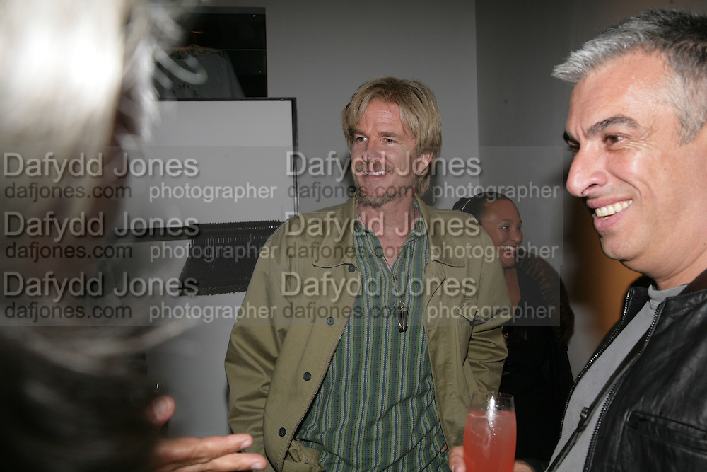 Matthew Modine and Rifat Ozbec, Michael Roberts - book launch party hosted by Vanity Fair to celebrate  publication, Shot In Sicily. Hamiltons Gallery, 13 Carlos Place, London,17 September 2007. -DO NOT ARCHIVE-© Copyright Photograph by Dafydd Jones. 248 Clapham Rd. London SW9 0PZ. Tel 0207 820 0771. www.dafjones.com.