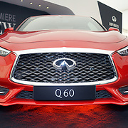 London,England, UK : 5th May 2016 : Q60 showcases at London Motor Show at Battersea Evolution over four days, with an exclusive preview in London. Photo by See Li