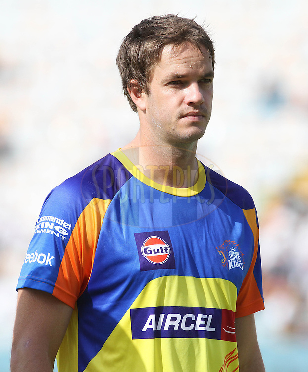 Albie Morkel of the Chennai Super Kings during match 9 of the Indian Premier League ( IPL ) Season 4 between the Kings XI Punjab and the Chennai Super Kings held at the PCA stadium in Mohali, Chandigarh, India on the 13th April 2011..Photo by Shaun Roy/BCCI/SPORTZPICS