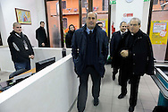 Roma  6 Novembre  2009..Il Direttore della Caritas Diocesana di Roma mons. Enrico Feroci  con in Presidente della Provincia di Roma Nicola Zingaretti in visita all' Emporio Caritas..The Director of Caritas of Rome Monsignor  Enrico Feroci and the president of the province in Rome Nicola  Zingaretti..Emporio Caritas is a real supermarket medium-sized (around 500 square metres) with automated boxes, trolleys, shelves and insignia. Of it can benefit not only residents but also those who are deprived of residence and not have a permanent residence, subject to authorisation Centres Listening and Parrocchiali Diocesan Caritas and institutions have joined the project..