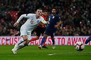 Wayne Rooney of England runs towards goal during the International Friendly match between England and USA at Wembley Stadium, London, England on 15 November 2018.