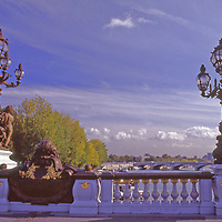 On the Seine, possibly the most famous and beautiful bridge in Paris the Pont Alexandre III