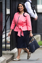 © Licensed to London News Pictures . 05/07/2016 . London , UK . PRITI PATEL arrives . Conservative Party cabinet meeting on Downing Street , London . Photo credit: Joel Goodman/LNP